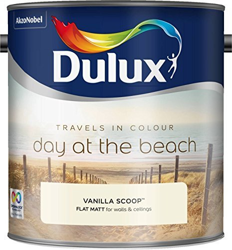 Dulux 500068 2.5 Litre Travels in Colour Flat Matt Paint - Vanilla Scoop by Dulux by AkzoNobel