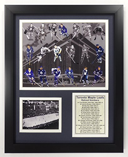 (Legends Never Die NHL Toronto Maple Leafs All Time Greats Double Matted Photo Frame, 12