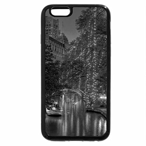 iPhone 6S Case, iPhone 6 Case (Black & White) - river walk in san antonio at dusk hdr