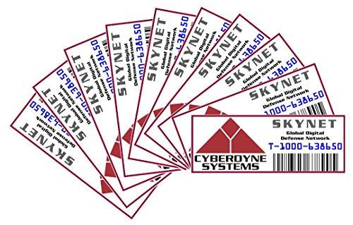 Asset Tag - Property of the Cyberdyne Systems - Skynet