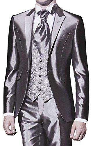 INMONARCH Mens Stunning Wedding 5 pc Tuxedo TX277 42R Sharkskin by INMONARCH