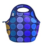 BUILT NY Gourmet Getaway Neoprene Lunch Tote, Plum Dot