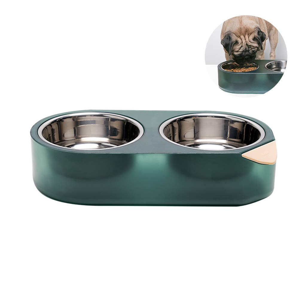 pidan Cat Bowl Elevated Pet Feeder Raised Food and Water Bowl Stainless Steel Heating and Cooling by Water for Small Medium Large Cats and Dogs(Secret Technique of Water)