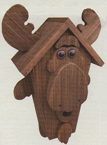 Amish Cypress Moose Birdhouse