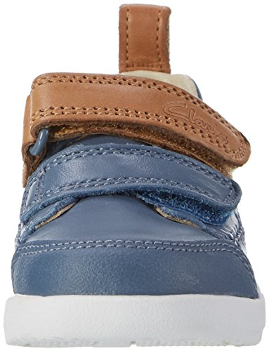Clarks Tri Aspire Fst, Botines de Senderismo para Bebés Azul (Denim Blue Lea)