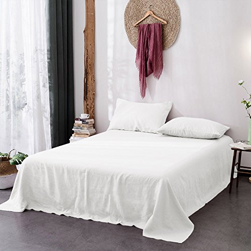 Merryfeel Luxurious 100% Pure French Linen Sheet Set - Queen