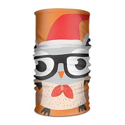 Hong Yi Fang Cute Eagle Christmas Hat Glasses Unisex Bandanas Beanie Cap Turban Headscarf Sweatband Headwear Headscarf