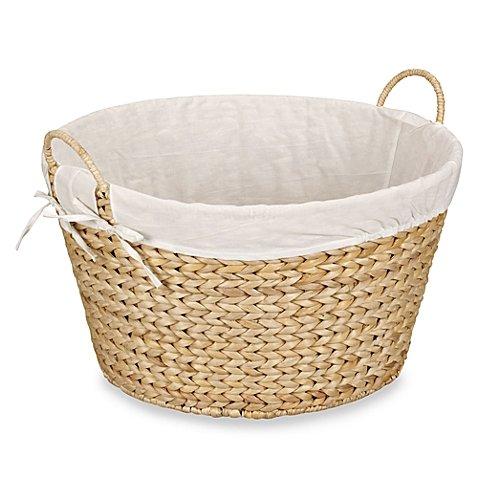 Banana Leaf Storage (Round Banana Leaf Laundry Basket in Natural- 11 1/2