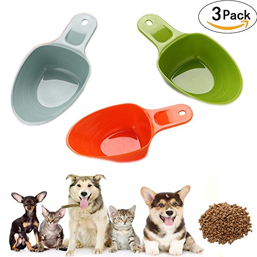 Rabbit Feeding Spoon (Gomech Dog Pet Food Scoop 1-Cup, Lines for 1/2 Cup and 1/4 Cup, Pet Feeding Shovel Cat Food Scoop Large Capacity Thickening Cat Dog Spoon Plastic Shovel Pet Feeder)