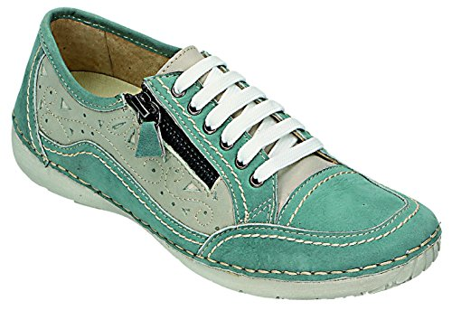 sand azur de MICCOS sand para cordones Azul mujer Azul Zapatos azur YxqZ0x7