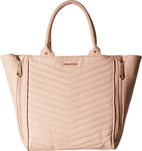 ron Quilted Tote Blush One Size (Quilted Leather Tote Bag)
