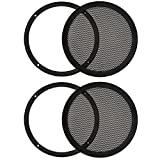 """2 Goldwood Sound SG-M8 Heavy Duty Steel Mesh Snap On Woofer Grills for 8"""" Speakers"""