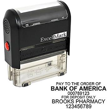 ExcelMark Custom Bank Deposit Stamp - 6 Lines (Stamp Only)