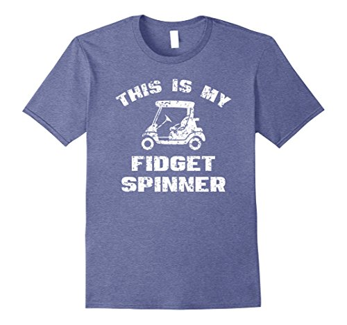 Mens Golf Cart This Is My Fidget Spinner Funny T Shirt 3XL Heather Blue ()