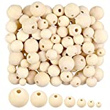 1000 Pieces Wooden Beads, Natural Round Wood Beads Unfinished Wood Spacer Beads Loose Beads for Crafts DIY Jewelry Making, 7Sizes (6mm, 8mm, 10mm, 12mm,14mm, 16mm,20mm)