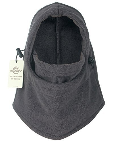 Warm Veil - EOZY Thermal Warm Fleece Balaclava Hood Veil Wind Proof Stopper Mask Hats Grey