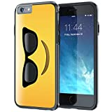 iPhone 6 6s Case, True Color?? Emoji Cool Glossy Sunglasses 3D Printed on Hybrid Cover Hard +Soft Slim Durable Protective TPU Bumper +Stylus & Screen Protector [Allover Collection]