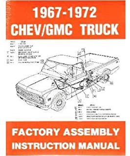 1967 1972 chevy c/k 10-30 light truck assembly manual book rebuild  illustrations