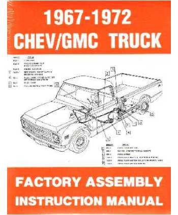 amazon com 1967 1972 chevy c k 10 30 light truck assembly manual rh amazon com 1986 Chevrolet C30 1980 Chevrolet C30