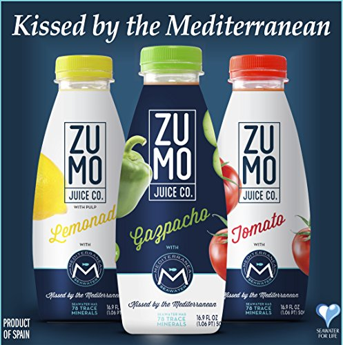 ZUMO Juices & Drinkable Soups Mix Pack, Made With Mediterranea Seawater (Pack of 6, 16.9oz/500mL Bottles)