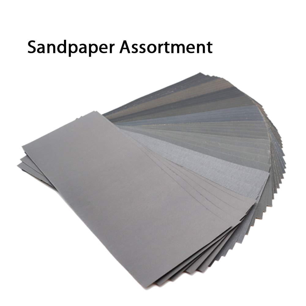 40PCS 75mm-80mm 3 Sandpaper 320//400//600// 800//1000//1200//1500//2000 Grit Set