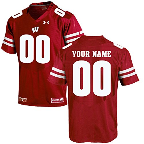 (Custom Wisconsin Badgers Football Jersey (X-Large))