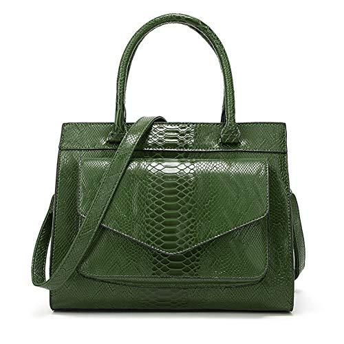 Bags Bag Tote Large Green Grain AmerStar Crossbody for Capacity Tote Bag Snake Zip Women Purse XCqwqPY4