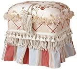 Jennifer Taylor Cornellia Rectangle Ottoman, Off-White Caramel For Sale