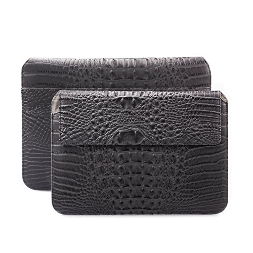 Apple iPad Air 2 | iPad Pro 9.7 Sleeve Bag | Samsung Galaxy Tab S3 S2 9.7 Case | suitably for from 8.0 to 10.1 inches Tablets | Crocodile Croc anthracite | iCues Piquante Wallet | Leather Envelope (Caiman Croc)