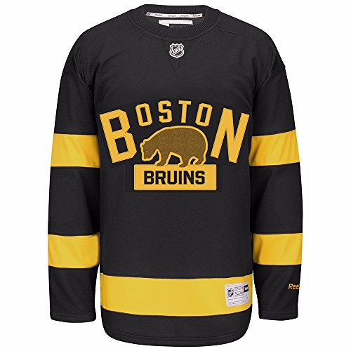 Reebok Boston Bruins Black 2016 Winter Classic Premier Team Jersey (2X) -