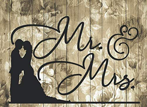 Mr. & Mrs.: Wedding Guest Book Romantic Design for All Wedding Themes / 320 Guests and Their Messages