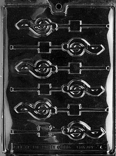Cybrtrayd Life of the Party J004 G-Clef Music Lolly Chocolate Candy Mold in Sealed Protective Poly Bag Imprinted with Copyrighted Cybrtrayd Molding Instructions