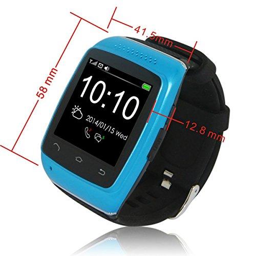 UniqueBella Quad-band Bluetooth Wrist Wrap Sync Intelligent Smart Phone Watch Wristband Bracelet White