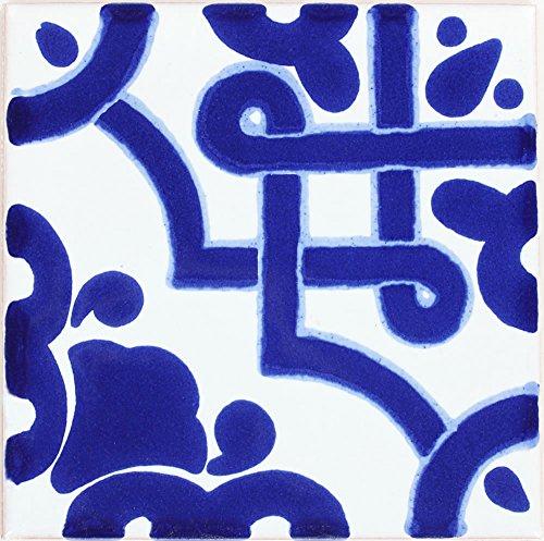 Tierra y Fuego Box of 90-4¼ x 4¼ Mosaico Azul - Terra Nova Mediterraneo Ceramic Tile