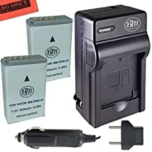 2-Pack of Power2000 EN-EL24 Batteries and Battery Charger for Nikon 1 J5, DL18-50, DL24-85 Digital Camera