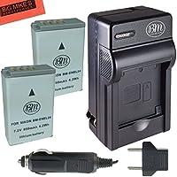 BM Premium 2-Pack of EN-EL24 Batteries and Battery Charger for Nikon 1 J5, DL18-50, DL24-85 Digital Camera