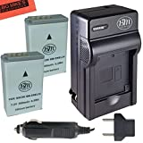 BM Premium 2-Pack of EN-EL24 Batteries and Battery Charger for Nikon 1 J5, DL18-50, DL24-85 Digital Camera