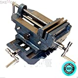 SKEMiDEX---6'' Cross Drill Press Vise Slide Metal Milling 2 Way X-Y Clamp Machine. For exact centering and acurate drilling Cross - slide design provides two-axis precision adjustment for perfect