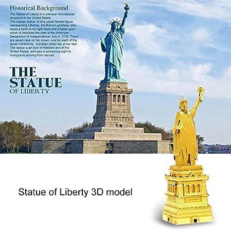Amazon com: 3D Metal Puzzle The Statue of Liberty Model DIY