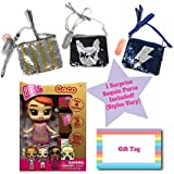 Ropeastar Boxy Girl Mini Doll Sequin Bag Set, Fashion Doll Toys Girls, Surprise Accessories Doll Set, Unique Ideas Kids, Holiday Birthday Gifts Children (Coco)