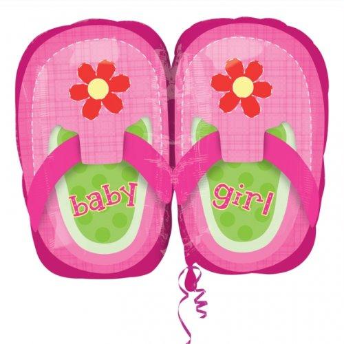 アナグラムバルーン2881501 Anagramベビーガールズかわいい靴箔マイラーラテックスバルーン、22インチ、ピンク   B076KC4DK4