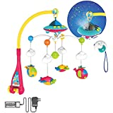Huanger Hanging Toy Projection Baby Crib Musical Mobile with Lights and Remote (Musical Mobile with Remote-controller and Charger)