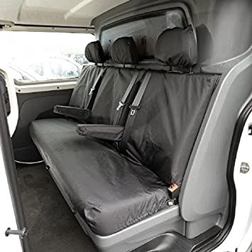 UK Custom Covers SC189B Tailored Heavy Duty Waterproof Rear Seat Covers Black