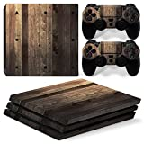 MODFREAKZ™ Console and Controller Vinyl Skin Set - Wood Boards for PS4 Pro