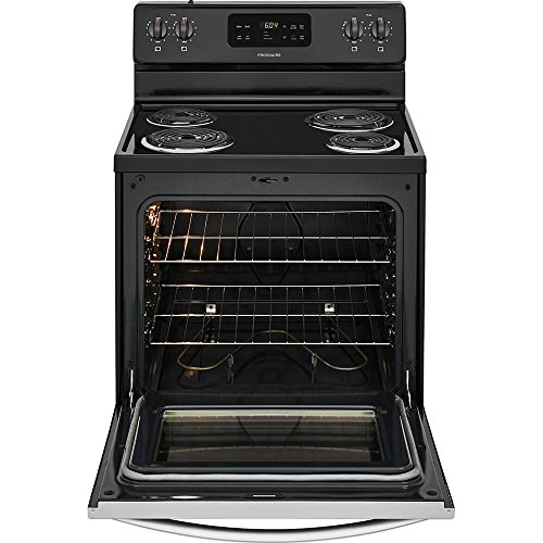 Frigidaire FFEF3016TS 30 Inch Electric Freestanding Range with 4 Coil Elements, 5.3 cu. ft. Primary Oven Capacity, in Stainless Steel