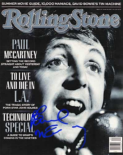 Paul Mccartney Rolling Stone Autographed Preprint Signed Photo