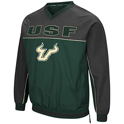 Colosseum Mens USF South Florida Bulls Windbreaker Jacket