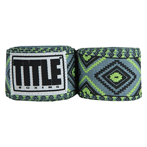 Title Boxing TITLE Print Mexican Style Hand Wrap, Green Aztec, 180'