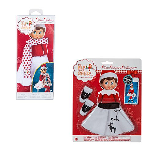 Elf on the Shelf Girl Outfits Bundle - 2pcs - Rockin Reindeer Skirt and