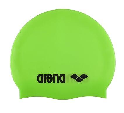 cd289f46b2c9 Amazon.com : Arena Classic Silicone Swim Cap, Acid Lime/Black ...